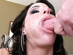 Lovely cutie Gia DiMarco is ready to suck guys hard meat pole day and night