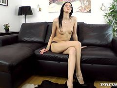 Stunning Valentina Cross takes off a dress to show her sexy body to an interviewer. Then she gives a blowjob to make a better impression. This hottie also gets fucked in her wet pussy and butt.