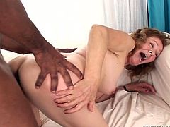This grandma has a huge sexual appetite and she needs at least three black men to reach powerful orgasms. Check out this awesome interracial sex video now to see what else this chick is up to.