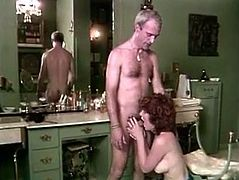 Filthy and hot bitch with dark hair and nice boobs gets her dripping cunt polished and sucks the dick. Have a look in steamy The Classic porn sex clip.