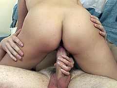 She never expected such pleasure from this horny stud