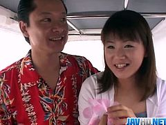 Make sure you don't miss this sexy Asian teenie getting banged in a van. Watch as she spreads legs for these horny guys, who can't stop fucking her tight snatch.