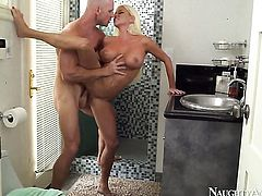 Nikita Von James and hard cocked guy Johnny Sins are horny for each other