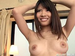 Press play and get a load of Anna Ousaka's bush and the rest of her sexy body int his solo scene as you feel a boner in between your legs.