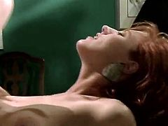 Horny and attractive bitch with nice body and awesome boobs gets her tigh hole licked and drilled in mish pose and she gives a blowjob. Have a look in The Classic Porn sex clip.