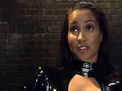 Nasty slut Wearing Latex Makes A Smut tied motion