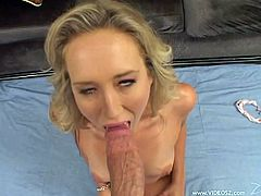 Check out Alana Evans' amazing body in this hot scene where she plays with her wet pussy before being fucked by a big cock.