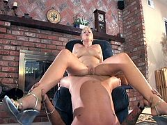 Beautiful blonde drilled by massive dick