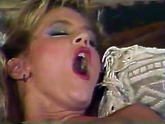 Slutty and horny whores with nice shapes found each other. One of them masturbates dreaming about the partner who would lick her tits and her dreams comes true in this clip. Have a look in The Classic Porn sex video.