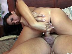 Have a look at this hardcore scene where the horny brunette Tanner Mayes is fucked by this guy's thick cock as you hear her moan.