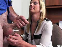 a handjob in the office