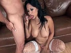 See Gianna Lynn's tight big tits jiggle every which way as her man brutally fucks her pussy.See how this sexy busty Asian babe getting her tight pussy rammed hard.She rides that big cock hard while her big boobs keep bouncing up and down.