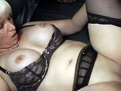 Seeing her in black lingerie while having a good fuck is quite stunning