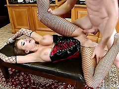 Nika Noire with giant hooters is curious about fucking with hard cocked guy Jordan Ash
