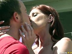 Brazzers Network brings you a hell of a free porn video where you can see how the busty redhead milf Tiffany Mynx gets drilled hard and deep  into a massive orgasm by Van Wylde.