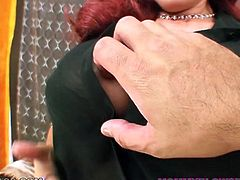 The mouth of this voracious filthy hottie is still pretty tight. So this bosomy creature uses it for hard deep throat. Look at this old slut in My XXX Pass porn clip!