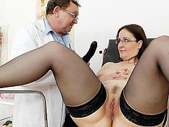 She feels quite naughty with her pussy stretched out so fine