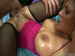 Voracious light haired dumpy MILF with big titties and in red heeled shoes enjoyed getting her kitty banged and fisted i doggy position. Take a look at that kinky chick in Porn XN sex clip!
