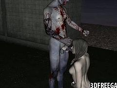 3D zombie babe gets fucked