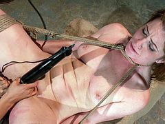 Redheaded slutty receives pussy punishment