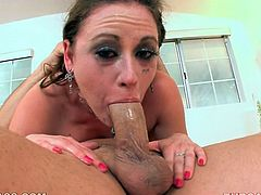 Sindee Jennings knows what oral sex is all about. She sucks every inch of her lover's dick like a dirty slut. Check out this video and I am pretty sure you will enjoy watching it.