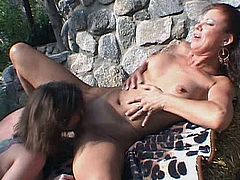 Milfs Ultra brings you two hotties masturbating in sexy outdoor show