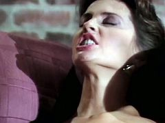 Horny guy enjoys watching two sensual lesbians pleasing each other