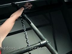 Spoiled chick Alexis Crystal is restrained in metal device and totally helpless to this bondage master's will. Still, he's not that bad as all he wants is to give her pleasure! He tickles her pussy with vibrator.