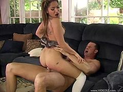 Sizzling Roxy Jezel blows a dick nicely. Then this girl in a college uniform gets fucked deep and hard in her tight Asian pussy.