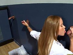 CFNM Secret brings you a hell of a free porn video where you can see how blonde and brunette sluts enjoy the glory holes. This party is completely out of control and Ava Addams is enjoying it to the fullest!