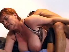Chubby wife is more than happy to have two cocks nailing her well