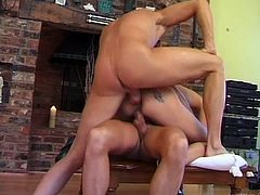 Take a look at this hardcore scene where the horny blonde Angel Long is fucked two guy's thick cocks in a threesome.