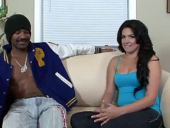 My Daughters Fucking A Black Dude brings you a hell of a free porn viedeo where you can see how the alluring brunette Danica Dillion sucks and gets fucked by a black stud.