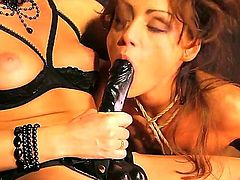 Kathia Nobili and Sophie Lynx are horny lesbians who like each other. But one of them is mistress and another one is a dirty slave who does everything her lady says.