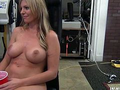 Buxom blonde Brianna Brooks gets fucked in missionary position