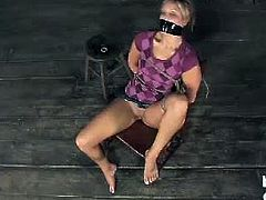 Make sure you don't miss horny Mackenzee tortured in the dungeon. Watch her getting all tied up and forced to suck cock by her horny torture master. She loves it.