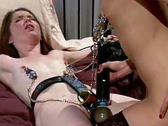 3 Nice lesbie hookers inside good female domination mov