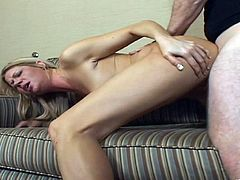 She sucks him and lets him fuck her nice tits before this sexy cougar shows him exactly how good she is in bed and rocks his world.