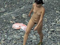 Voyeur's dirty thoughs and needs are being stimulated more than enough by watching this nude lady