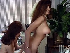 Have fun with this hot scene where these hot ladies fuck one another with a strapon in a hot lesbian scene.