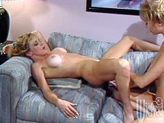 Have fun with this hot scene where these horny blondes make you