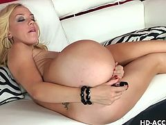 Dildos HD brings you a hell of a free porn video where you can see how the hot blonde Annette Schwartz dildos her sweet ass and tight pink pussy into heaven.