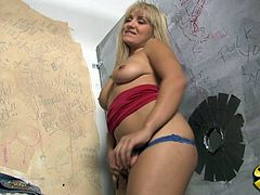 Just look at this steaming blond siren Lea Lexis. She gets naked and starts sucking a huge black cock! She hasn't seen such a size.