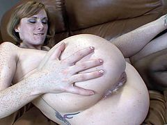Redheaded Cougar Gets an Interracial Creampie