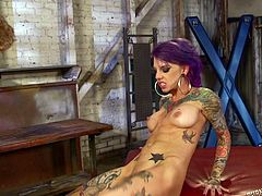 tattoed girl spices up the atmosphere