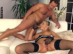 Enjoy Natallie DAngelo moaning with a big cock pounding her pussy hard