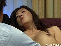 mature japanese woman loves it when her feet are sucked