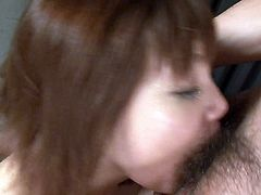 Petite Asian MILF Yumemi Tachibana gives blowjob and gets toyed