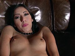 Damn, this sex doll is going to have a hot time with herself! She gets naked and starts pleasing her hot pussy! Kimberly Gates is such a glam girl!