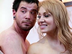 Dane Cross fucks with smiling redhead Lea Lexis